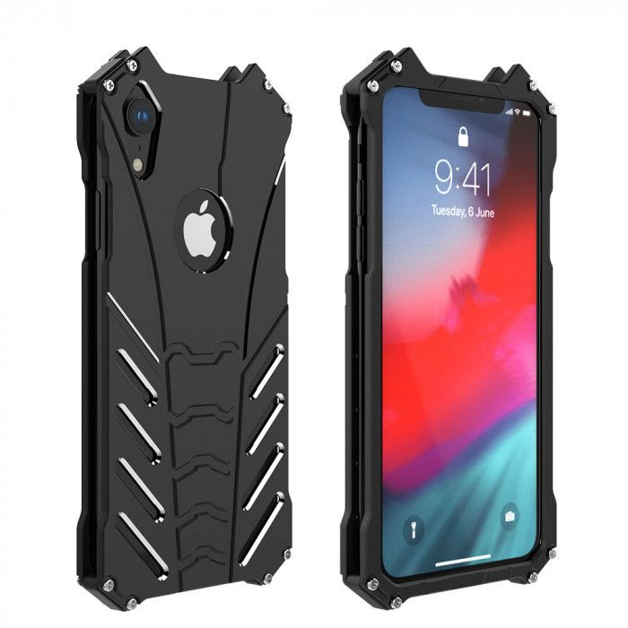 R-Just Classic Shockproof Aluminum Alloy Metal Protective Case For iPhone Xs/XR/Xs Max