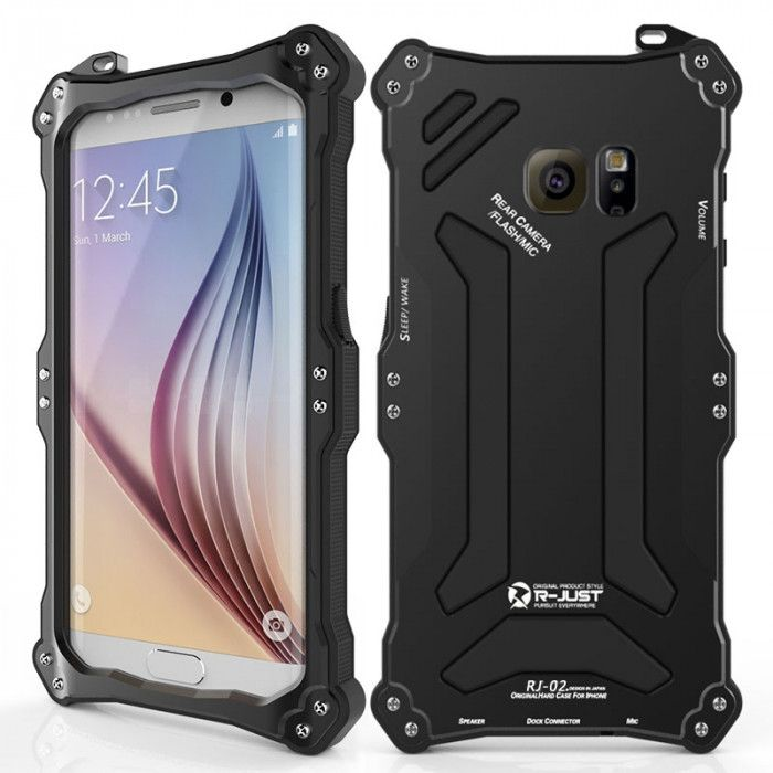 R-Just Dirt Proof & Shock Proof Powerful Metal Protective Case For Samsung S6 Edge