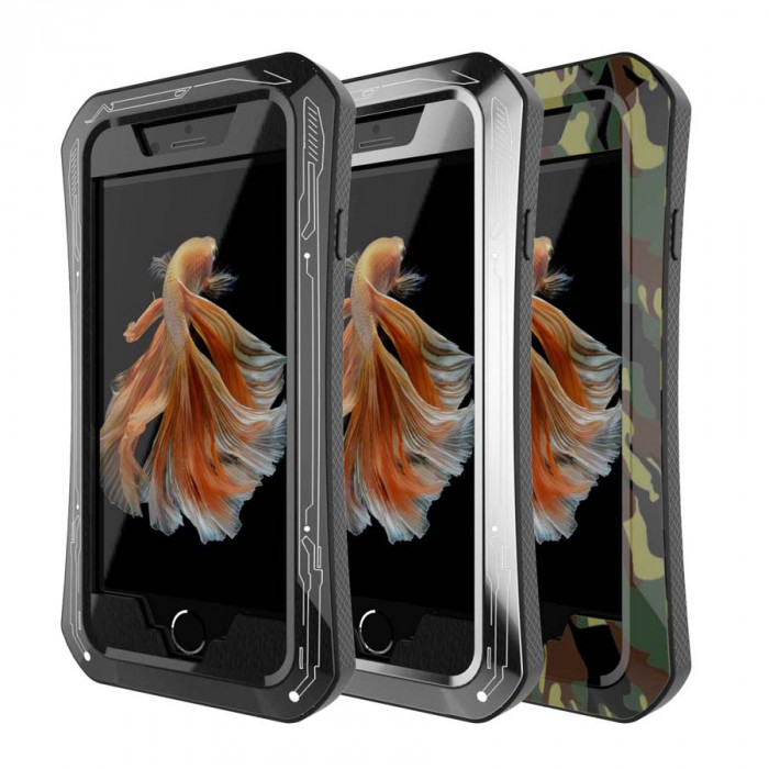 R-Just Dirt Proof & Shock Proof Powerful Metal & Silicone Protective Case For iPhone 6/6 Plus/6s/6s Plus