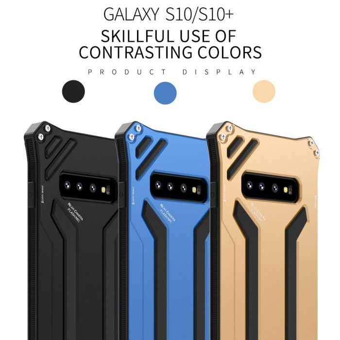 R-Just Dirt Proof & Shock Proof & Snow Proof Powerful Metal Protective Case For Samsung S10 Plus/S10