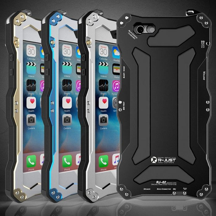 R-Just Dirt Proof & Shock Proof & Water Proof Powerful Metal Protective Case For iPhone 6/6/6s Plus