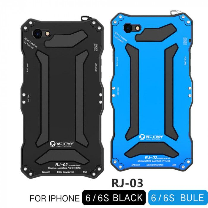 R-Just Dirt Proof & Shock Proof & Water Proof Powerful Metal Protective Case For iPhone 6/6S/6 Plus / 6S Plus