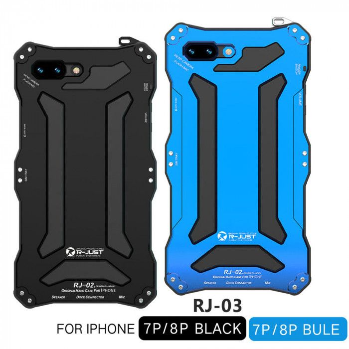 R-Just Dirt Proof & Shock Proof & Water Proof Powerful Metal Protective Case For iPhone 7 Plus iPhone 8 Plus