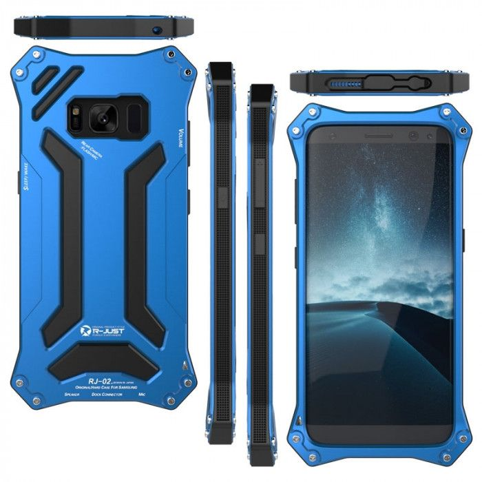 R-Just Dirt Proof & Shock Proof & Water Proof Powerful Metal Protective Case For Samsung Galaxy S8/S8 Plus