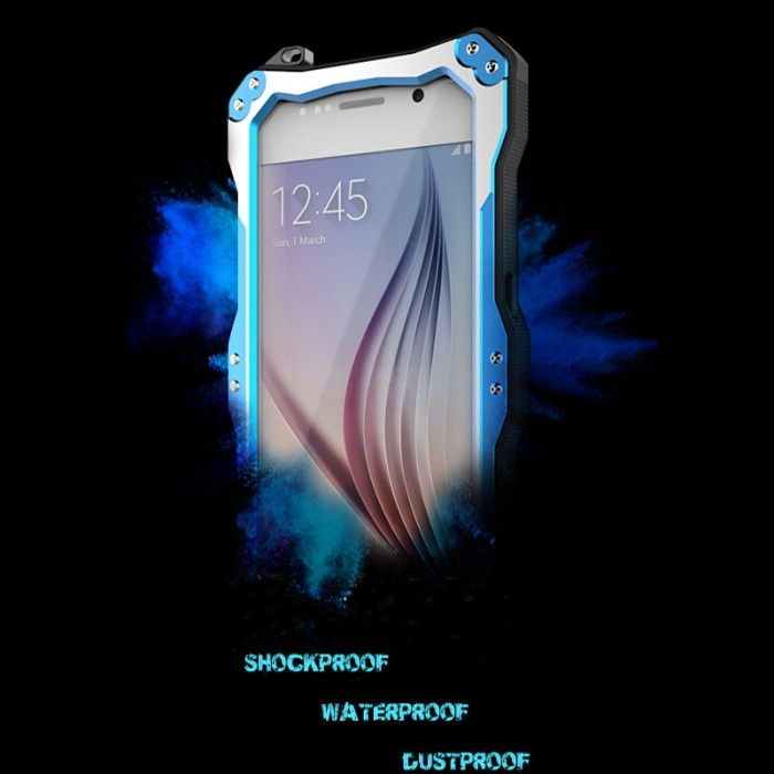 R-Just Dirt Proof & Shock Proof & Water Proof Powerful Metal Protective Case For Samsung S6