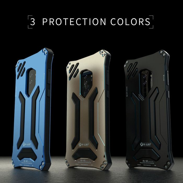 R-Just Dirt Proof & Shock Proof & Water Proof Powerful Metal Protective Case For Samsung S9 Plus / S9