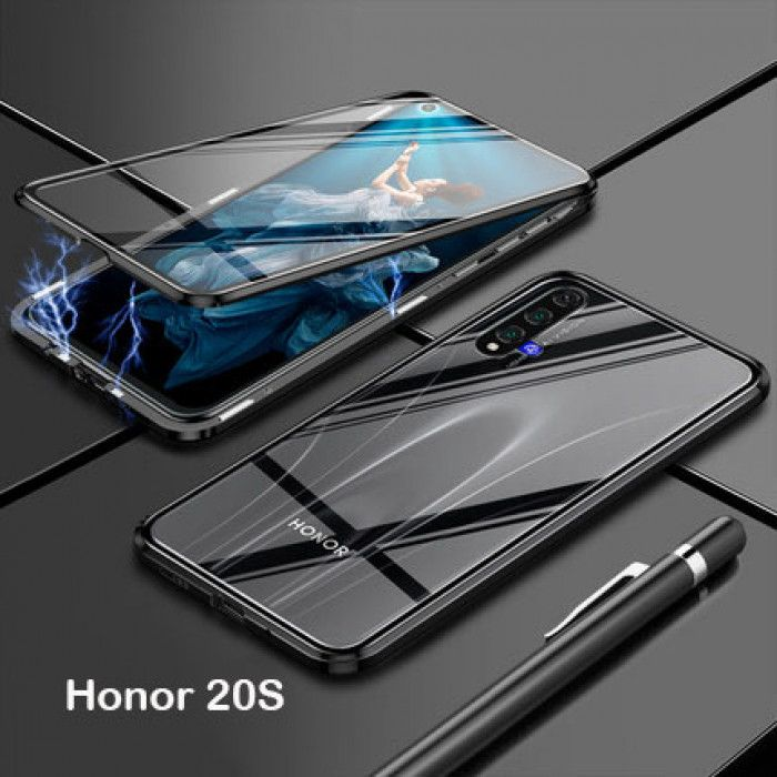 R-Just Double Sided Toughened Glass Magnetic Adsorption Metal Frame For HUAWEI Honor 20i/20S/20 Pro/20