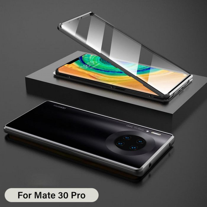R-Just Double Sided Toughened Glass Magnetic Adsorption Metal Frame For HUAWEI Mate 30 Pro/Mate 30