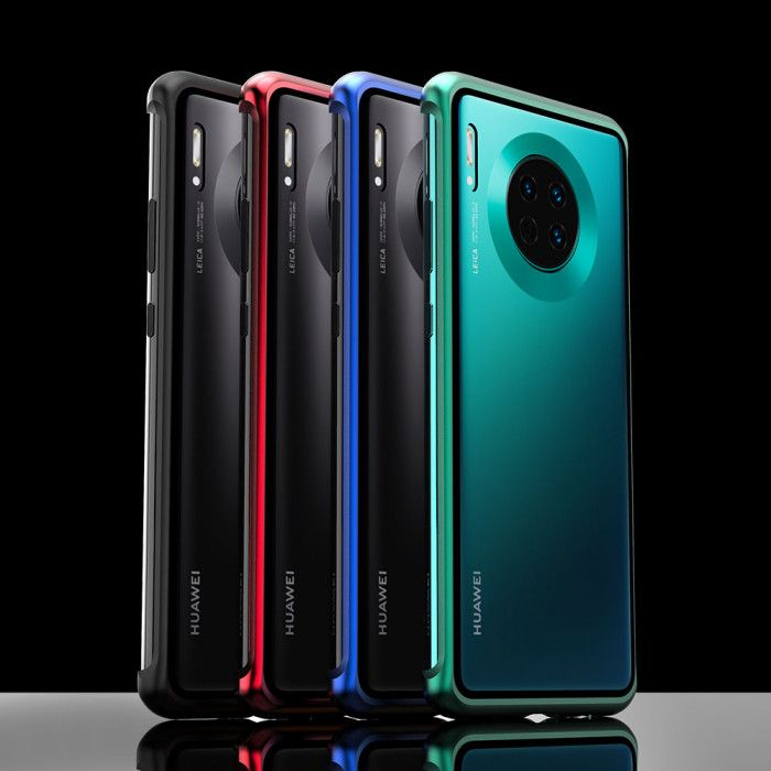 R-Just Frameless Magnetic Transparent Glass Back Cover Phone Case For HUAWEI Mate 30 Pro/Mate 30