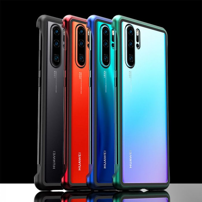 R-Just Frameless Magnetic Transparent Glass Back Cover Phone Case For HUAWEI P30 Pro/P30