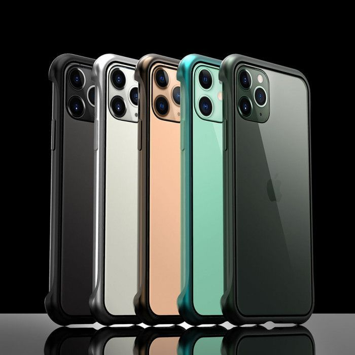 R-Just Frameless Magnetic Transparent Glass Back Cover Phone Case For iPhone 11 Pro Max/11 Pro/11