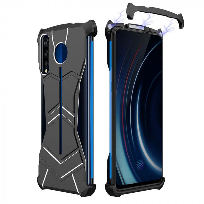R-Just New Magnetic Panther Metal Cover Case For VIVO iQOO