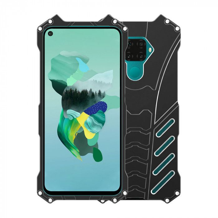 R-Just Shockproof Aluminum Alloy Metal Protective Case For Huawei Nova 5i Pro