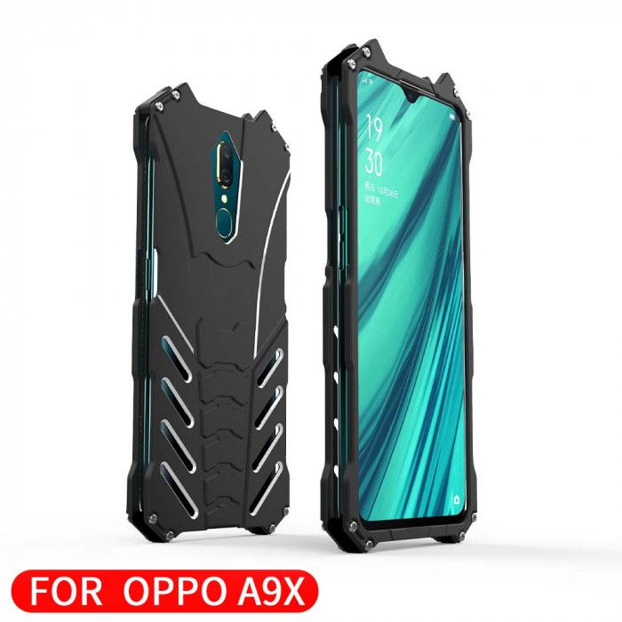 R-Just Shockproof Aluminum Alloy Metal Protective Case For OPPO A9X/A9