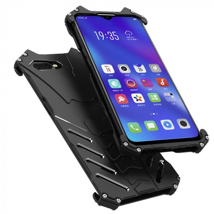 R-Just Shockproof Aluminum Alloy Metal Protective Case For OPPO K1