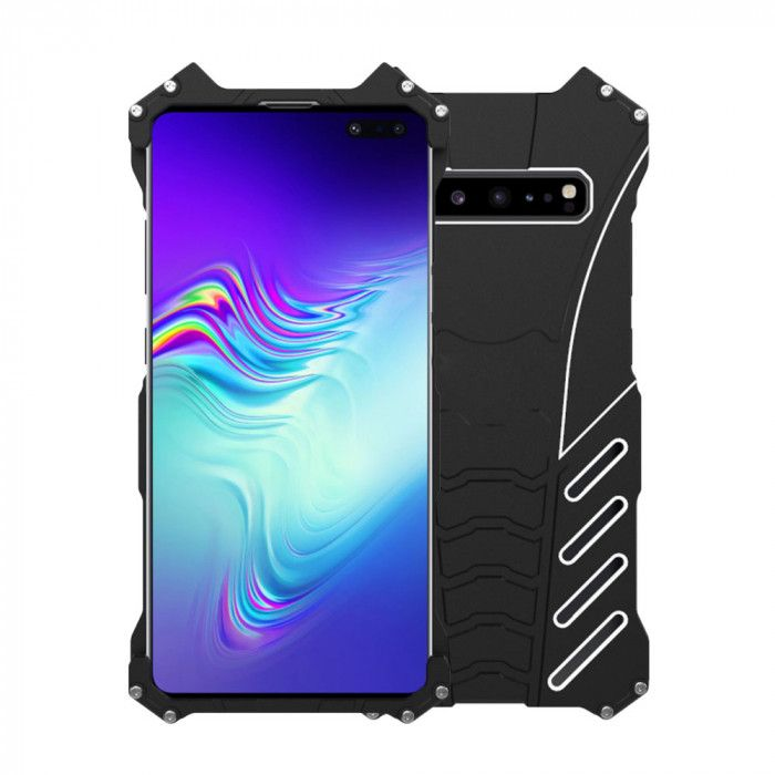 R-Just Shockproof Aluminum Alloy Metal Protective Case For Samsung Galaxy S10 5G