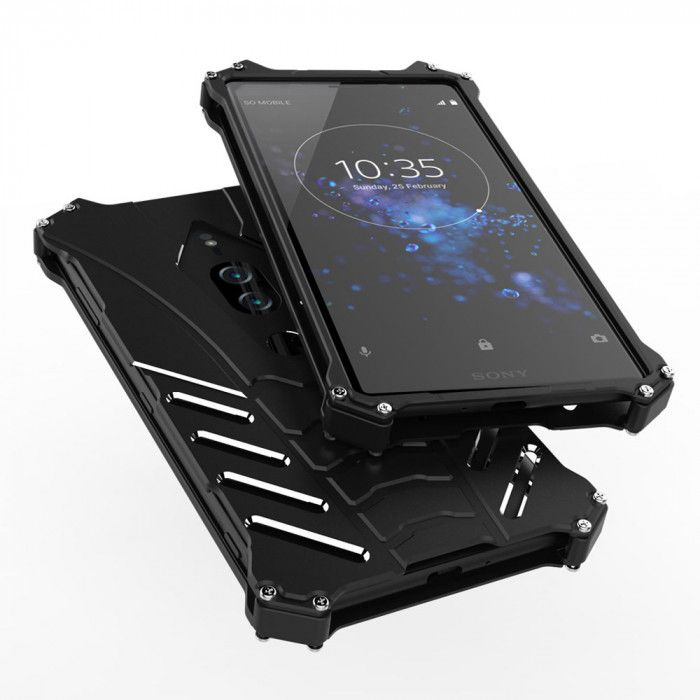 R-Just Shockproof Aluminum Alloy Metal Protective Case For Sony XZ 2 Premium