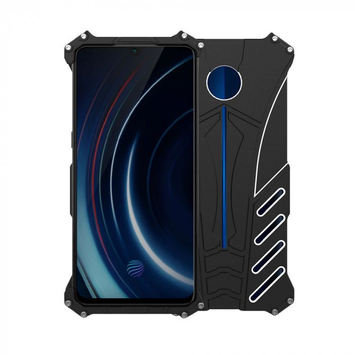 R-Just Shockproof Aluminum Alloy Metal Protective Case For VIVO iQOO