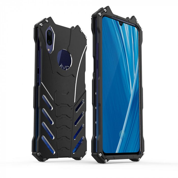 R-Just Shockproof Aluminum Alloy Metal Protective Case For ViVO X23 Symphony Edition