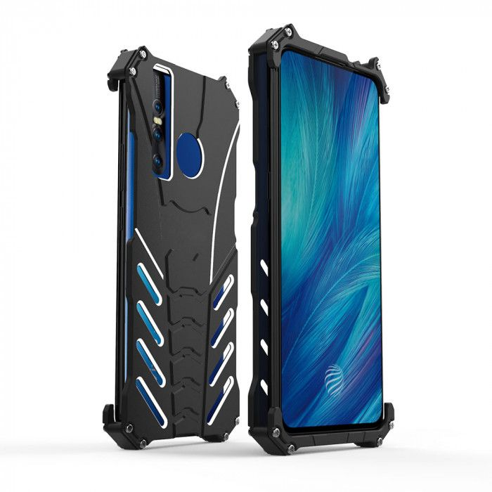 R-Just Shockproof Aluminum Alloy Metal Protective Case For VIVO X27