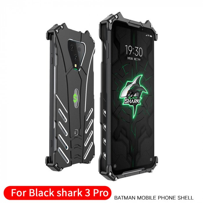 R-Just Shockproof Aluminum Alloy Metal Protective Case For Xiaomi Black Shark 3 Pro/Shark 3