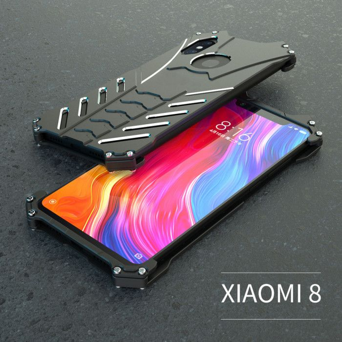 R-Just Shockproof Aluminum Alloy Metal Protective Case For Xiaomi Mi8