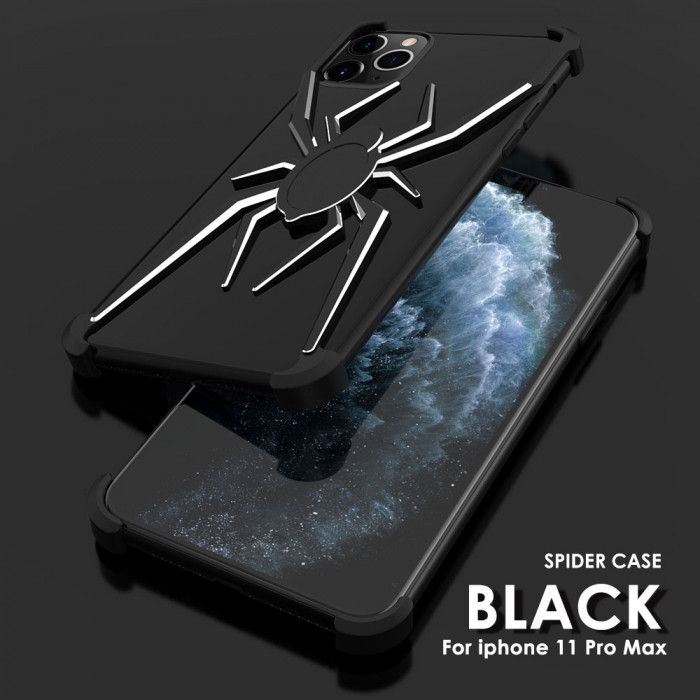 R-Just Shockproof Aluminum Alloy Metal Shining Spider Case For iPhone 11 Pro Max/11 Pro/iPhone 11 ( Highlighted Version )