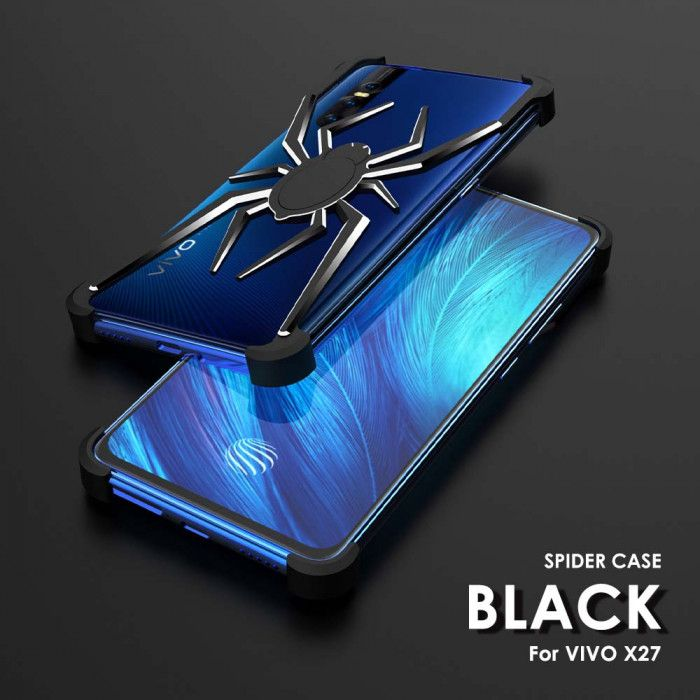 R-Just Shockproof Aluminum Alloy Metal Shining Spider Case For VIVO X27