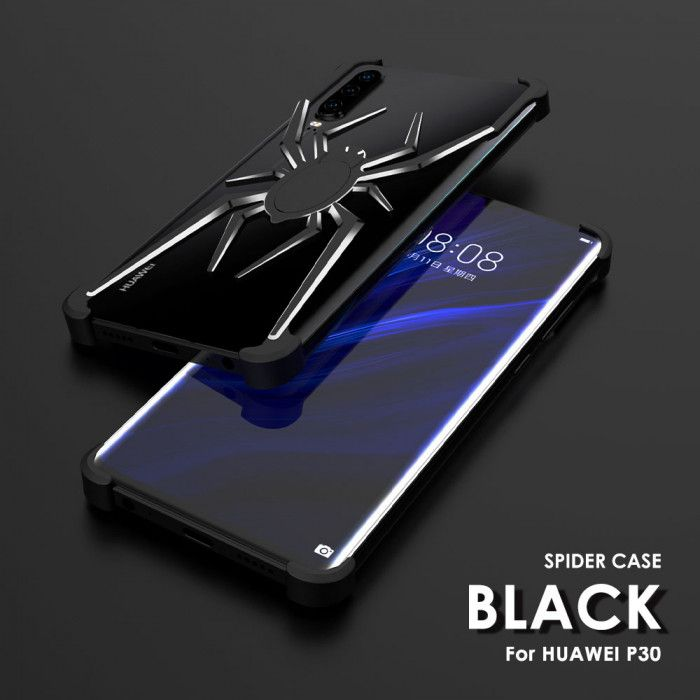R-Just Shockproof Aluminum Alloy Metal Shining Spider Case For HUAWEI P30 Pro/P30/Nova 4e