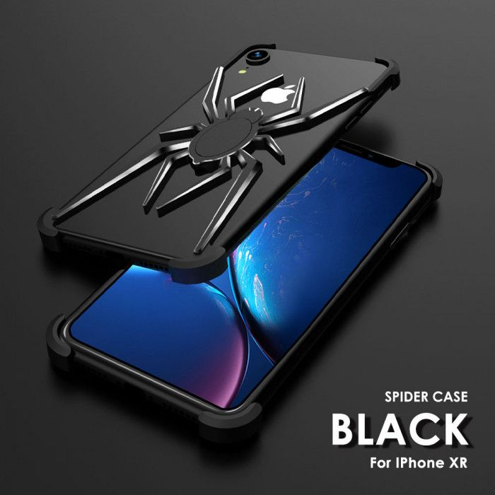 R-Just Shockproof Aluminum Alloy Metal Shining Spider Case For iPhone XS Max/XR/XS/X ( Highlighted Version )