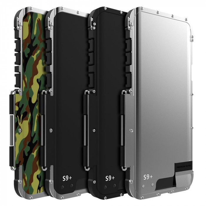 R-Just Stainless Steel Metal Full Protection Shockproof Flip Protective Case For Samsung GALAXY S9/S9 Plus