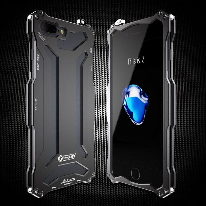 R-Just Ultra Thin Cool Aluminum Alloy Shock Proof Metal Shell With Hook Design For iPhone 7/7 Plus
