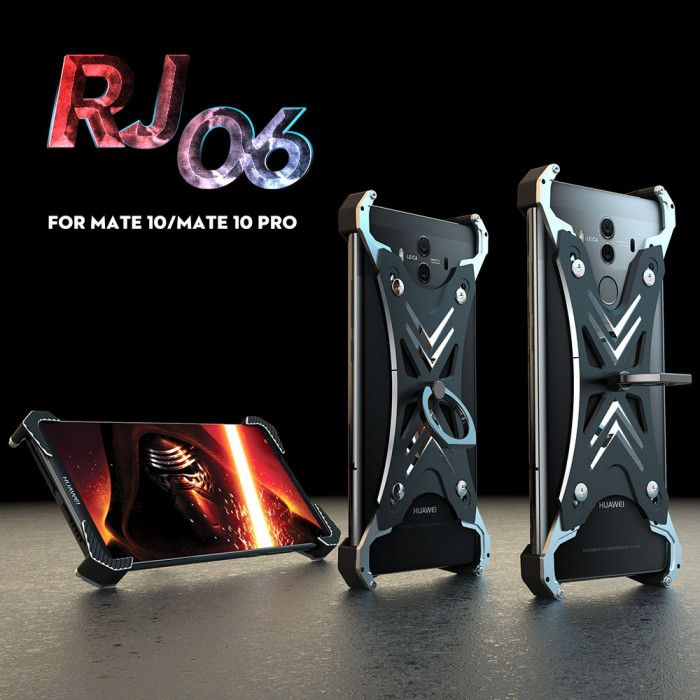 R-Just Ultra Thin Cool Aluminum Alloy Shock Proof Metal Shell With Ring Buckles For Huawei Mate10 Pro/Mate 10