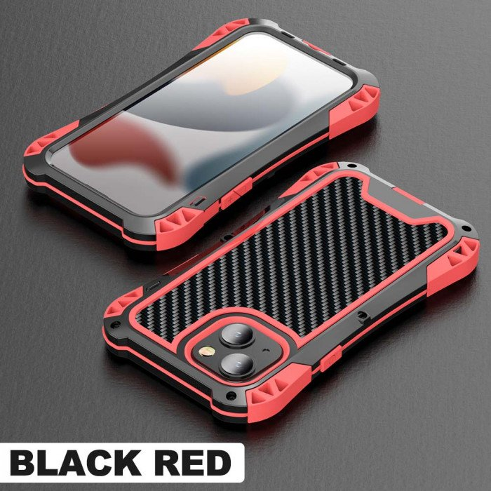 R-Just AMIRA Series Dirt Proof & Shock Proof Powerful Metal & Silicone Protective Case For iPhone 13 Series