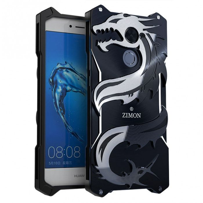 SIMON Dragon Style Aluminum Alloy Metal Case Cover For Huawei Enjoy 7 Plus