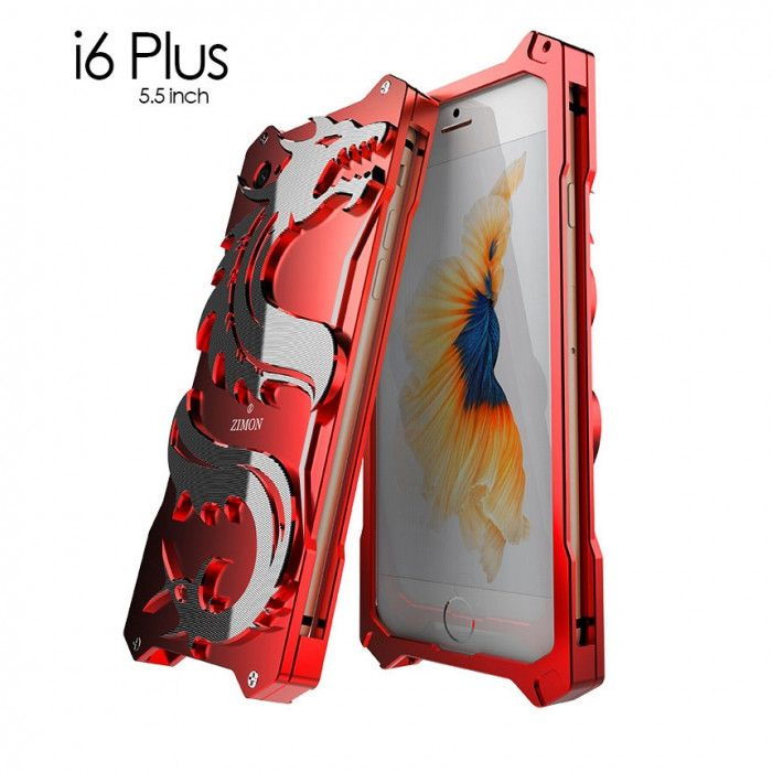 SIMON Dragon Style Aluminum Alloy Metal Case Cover For iPhone 6/6S Plus