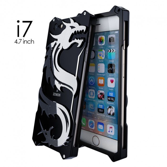 SIMON Dragon Style Aluminum Alloy Metal Case Cover For iPhone 7/8