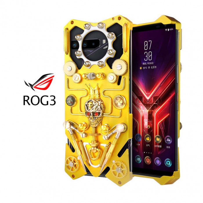 Simon Gothic Steampunk Mechanical Gear Metal Case For ASUS ROG 3