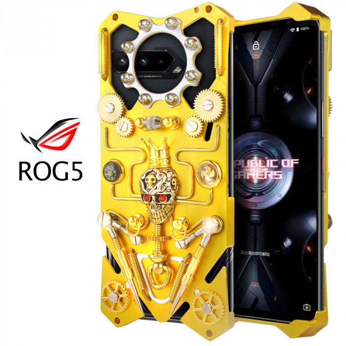 Simon Gothic Steampunk Mechanical Gear Metal Case For ASUS ROG 5