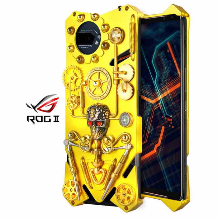 Simon Gothic Steampunk Mechanical Gear Metal Case For ASUS ROG Phone 2