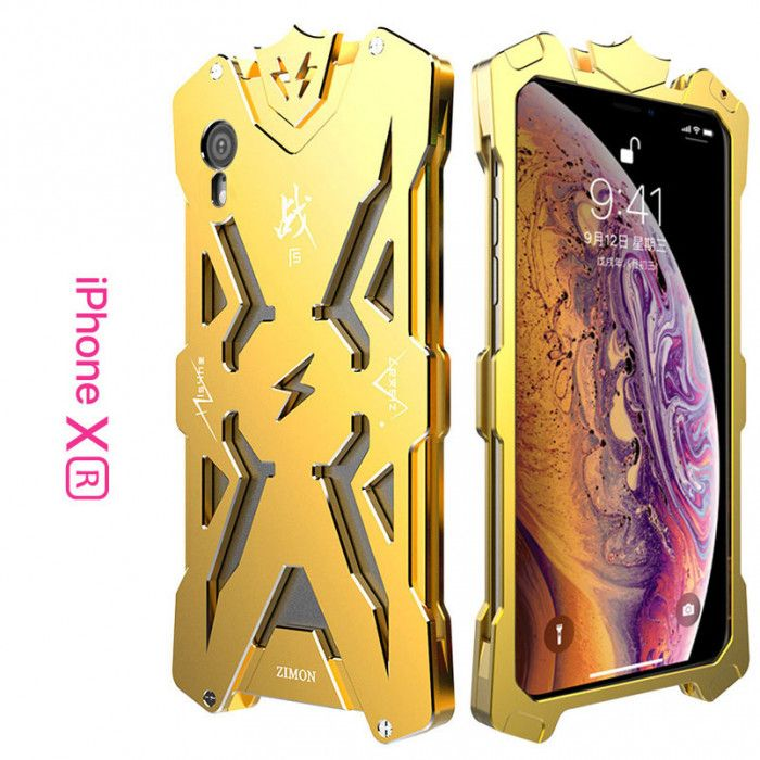 SIMON Mars Style Aluminum Alloy Frame Bumper Cover Case For iPhone XR/XS/XS MAX