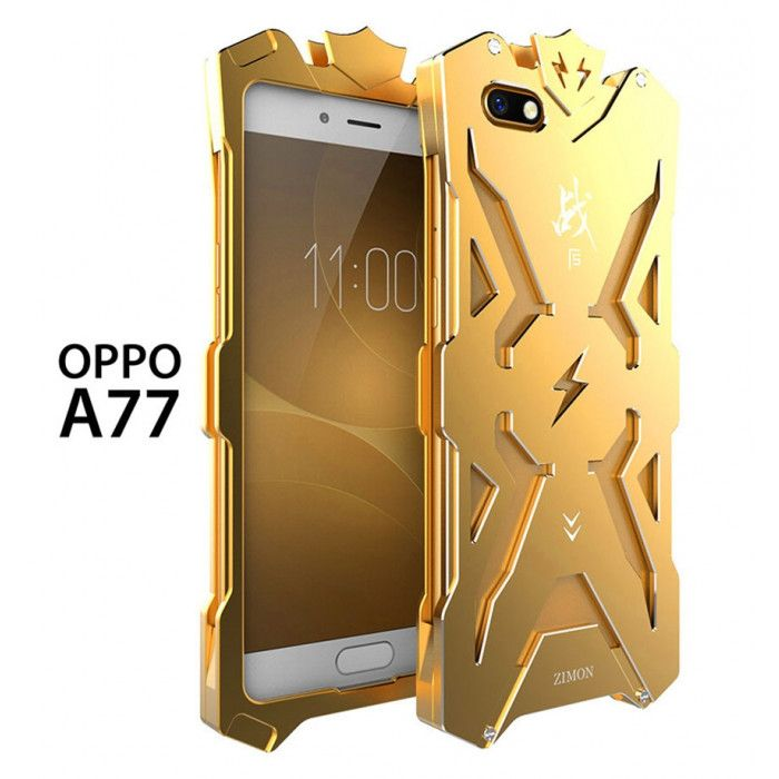 SIMON Mars Style Aluminum Alloy Frame Bumper Cover Case For OPPO A77