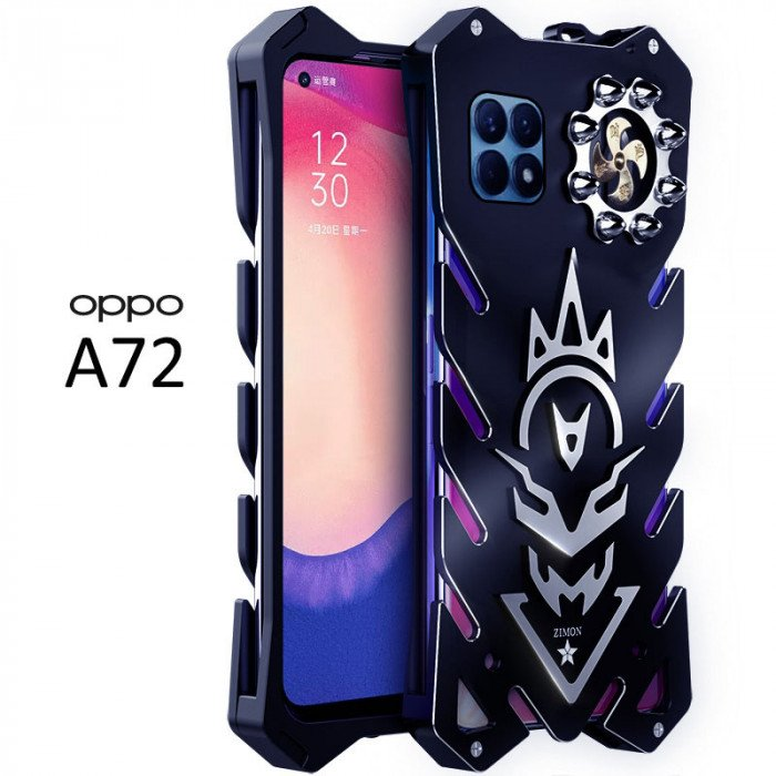 SIMON New Cool Aluminum Alloy Metal Frame Bumper Cover Case For OPPO A72