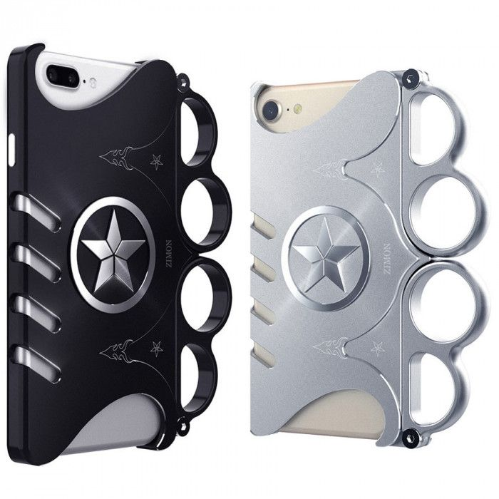 SIMON New Cool Game Gloves Series Aluminum Alloy Metal Frame Bumper Cover Case For iPhone 6/6S/7/8