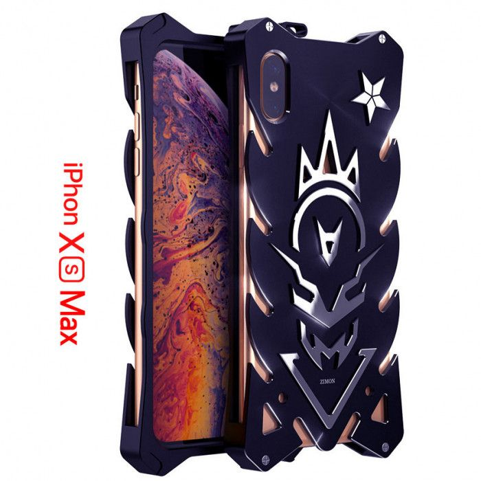 SIMON New Style Cool Aluminum Alloy Metal Frame Bumper Cover Case For iPhone Xs/Xs Max
