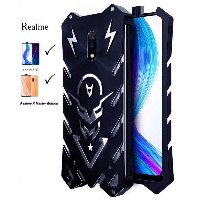 SIMON New Style Cool Aluminum Alloy Metal Frame Bumper Cover Case For Realme X Master Edition/Realme X Lite/Realme X