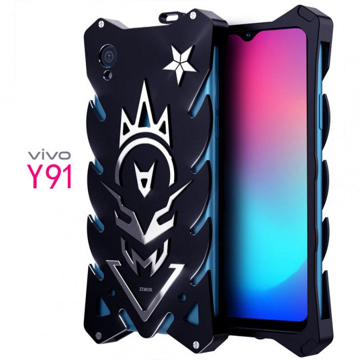 SIMON New Style Cool Aluminum Alloy Metal Frame Bumper Cover Case For VIVO Y91