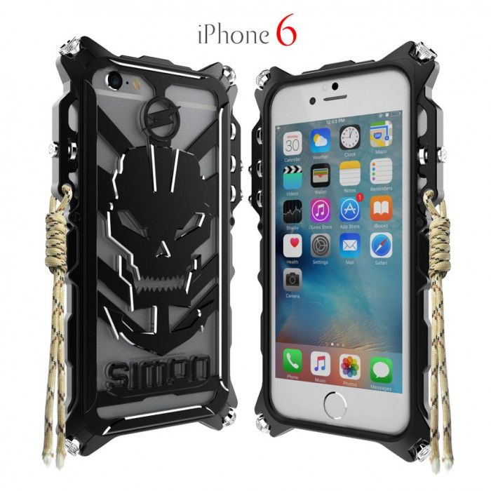 Simon Robot Arm Style Aluminum Alloy Metal Case Cover For iPhone 6/6S
