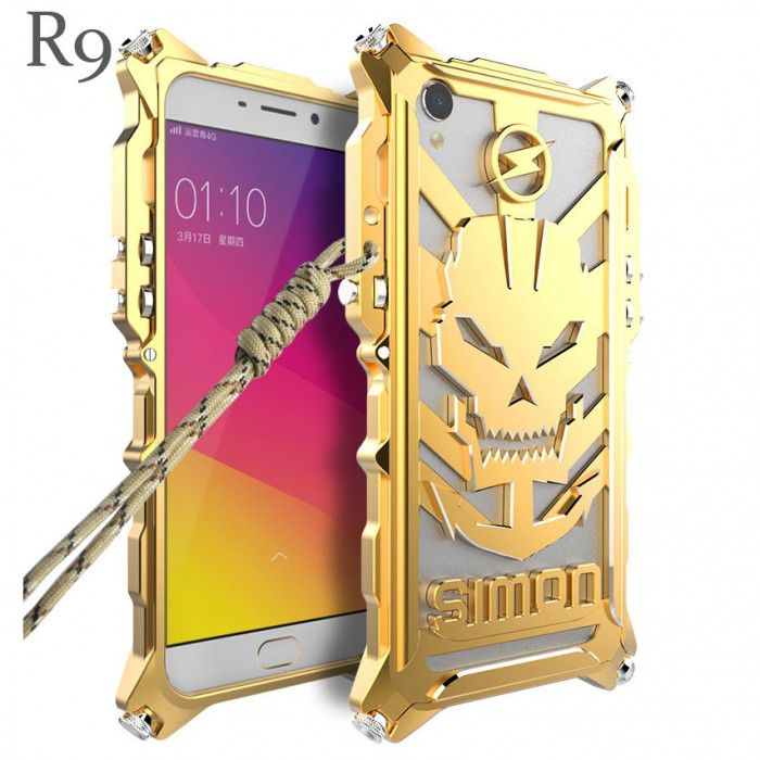 Simon Robot Arm Style Aluminum Alloy Metal Case Cover For OPPO R9