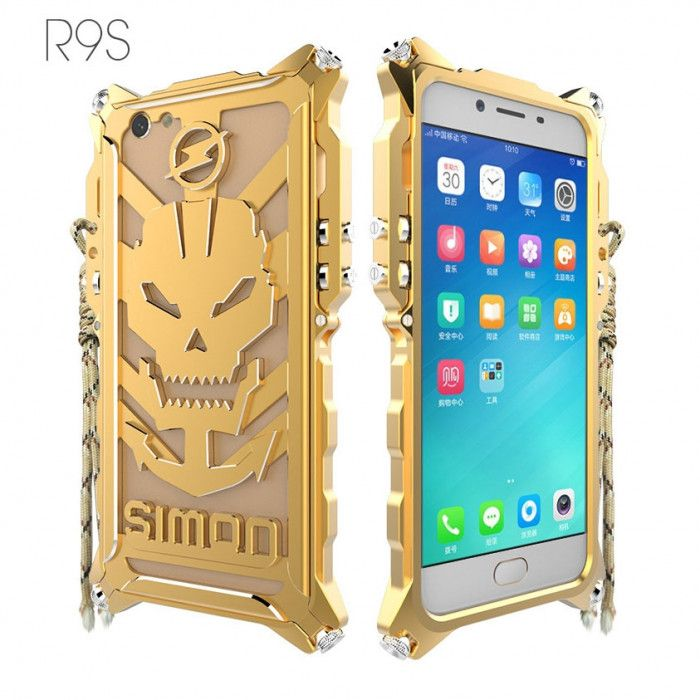 Simon Robot Arm Style Aluminum Alloy Metal Case Cover For OPPO R9S